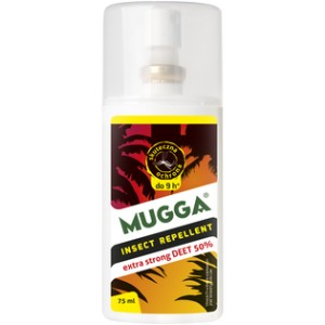 Na komary tropikalne Mugga Spray DEET 50% 75 ml